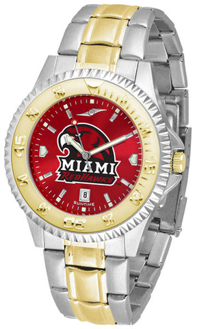 Mens Miami Univ. Redhawks - Competitor Two Tone AnoChrome Watch