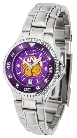 Ladies North Alabama Lions - Competitor Steel AnoChrome Watch - Color Bezel