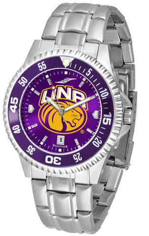 Mens North Alabama Lions - Competitor Steel AnoChrome Watch - Color Bezel
