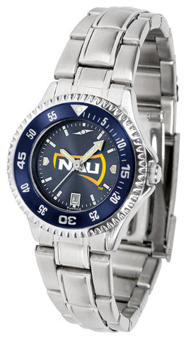 Ladies Northern Arizona Lumberjacks - Competitor Steel AnoChrome Watch - Color Bezel
