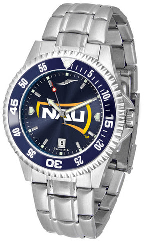 Mens Northern Arizona Lumberjacks - Competitor Steel AnoChrome Watch - Color Bezel