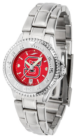 Ladies North Carolina State Wolfpack - Competitor Steel AnoChrome Watch