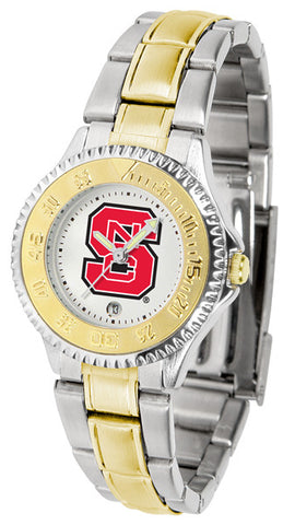 Ladies North Carolina State Wolfpack - Competitor Two Tone Watch