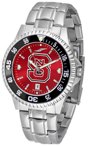 Mens North Carolina State Wolfpack - Competitor Steel AnoChrome Watch - Color Bezel
