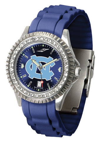 North Carolina Tar Heels Sparkle Watch With Color Band