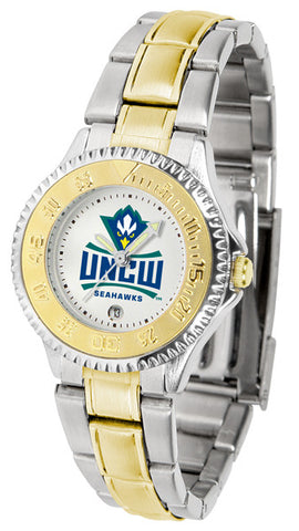 Ladies North Carolina Wilmington Seahawks - Competitor Two Tone Watch