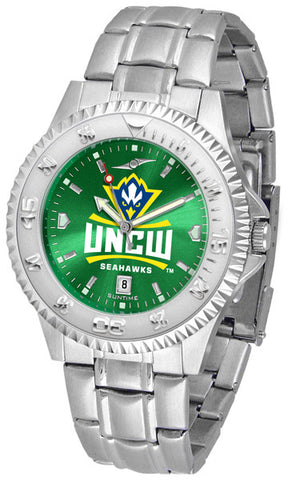 Mens North Carolina Wilmington Seahawks - Competitor Steel AnoChrome Watch