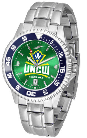 Mens North Carolina Wilmington Seahawks - Competitor Steel AnoChrome Watch - Color Bezel