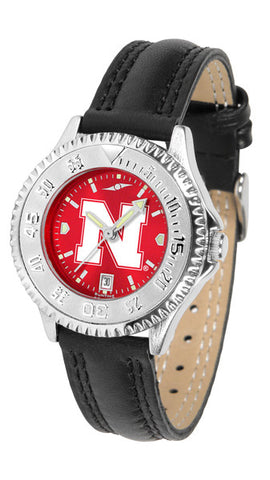 Nebraska Cornhuskers Ladies Competitor Watch With AnoChome Dial