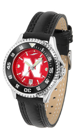 Nebraska Cornhuskers Ladies Competitor Watch With AnoChome Dial, Color Bezel