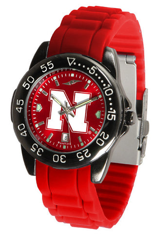 Nebraska Cornhuskers Fantom Sport AC Watch With Color Band