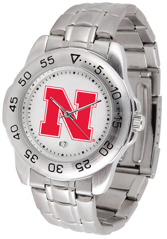 Nebraska Cornhuskers Men Sport Steel Watch