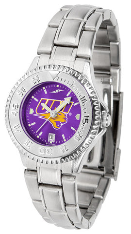 Ladies Northern Iowa Panthers - Competitor Steel AnoChrome Watch