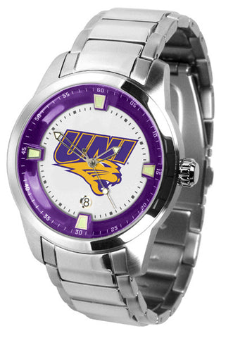 Mens Northern Iowa Panthers - Titan Steel Watch