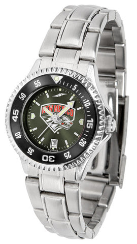 Ladies New Mexico Lobos - Competitor Steel AnoChrome Watch - Color Bezel