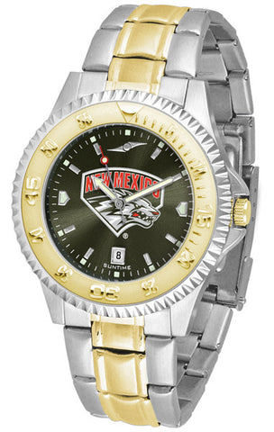 Mens New Mexico Lobos - Competitor Two Tone AnoChrome Watch