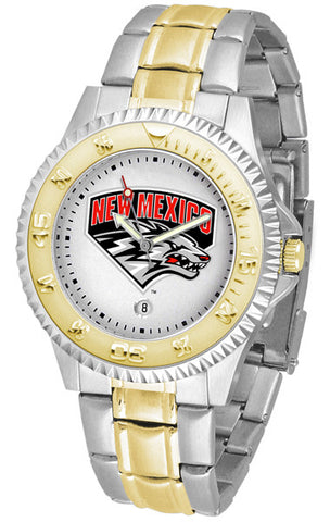 Mens New Mexico Lobos - Competitor Two Tone Watch