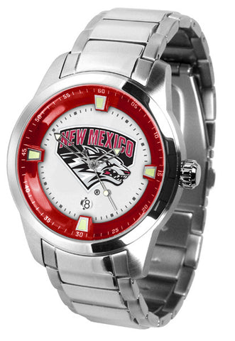 Mens New Mexico Lobos - Titan Steel Watch