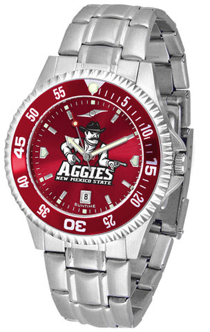 Mens New Mexico State Aggies - Competitor Steel AnoChrome Watch - Color Bezel