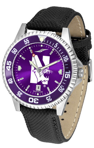 Mens Northwestern Wildcats - Competitor AnoChrome Watch - Color Bezel