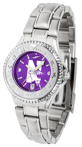Ladies Northwestern Wildcats - Competitor Steel AnoChrome Watch