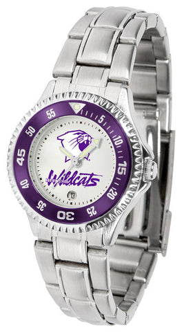 Ladies Northwestern Wildcats - Competitor Steel Watch