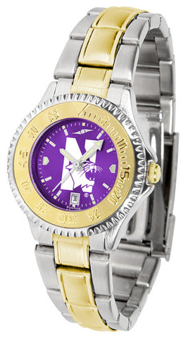 Ladies Northwestern Wildcats - Competitor Two Tone AnoChrome Watch