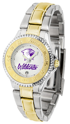 Ladies Northwestern Wildcats - Competitor Two Tone Watch