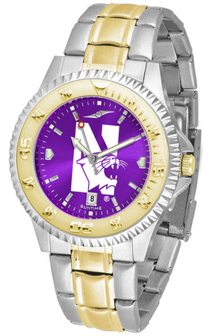 Mens Northwestern Wildcats - Competitor Two Tone AnoChrome Watch