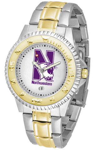 Mens Northwestern Wildcats - Competitor Two Tone Watch