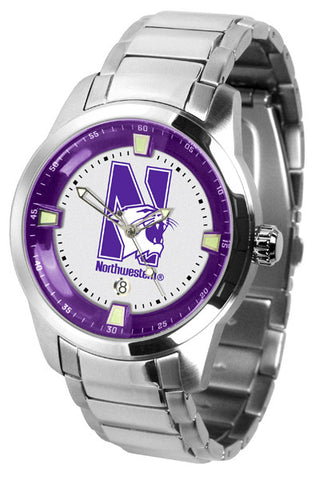 Mens Northwestern Wildcats - Titan Steel Watch