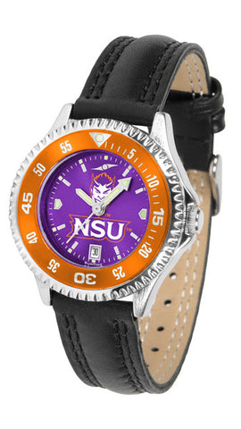 Ladies Northwestern State Demons - Competitor AnoChrome Watch - Color Bezel