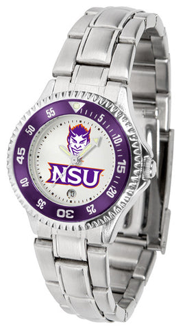 Ladies Northwestern State Demons - Competitor Steel Watch
