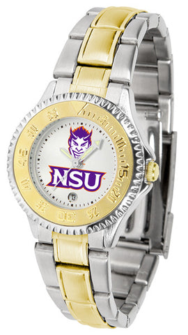 Ladies Northwestern State Demons - Competitor Two Tone Watch