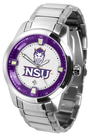 Mens Northwestern State Demons - Titan Steel Watch