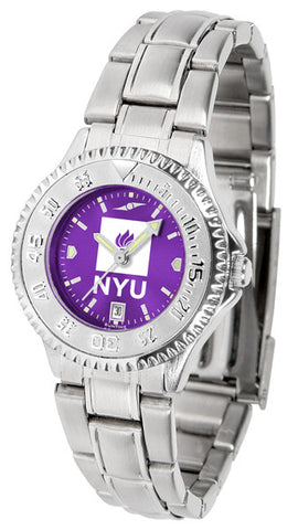 Ladies New York University Violets - Competitor Steel AnoChrome Watch