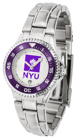 Ladies New York University Violets - Competitor Steel Watch