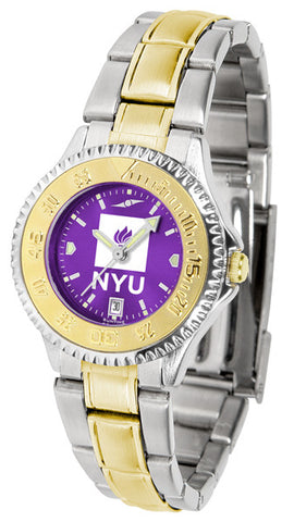 Ladies New York University Violets - Competitor Two Tone AnoChrome Watch