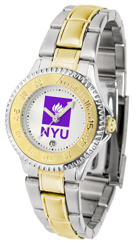 Ladies New York University Violets - Competitor Two Tone Watch