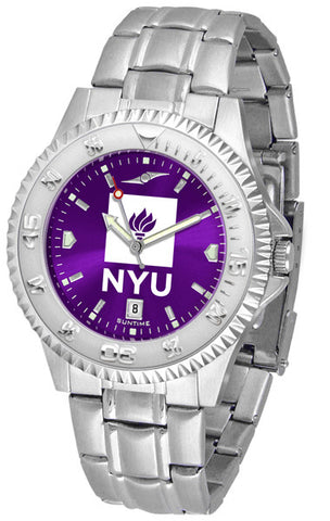 Mens New York University Violets - Competitor Steel AnoChrome Watch