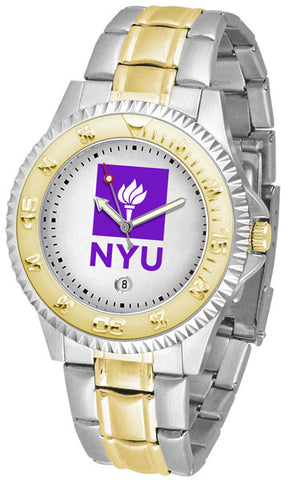 Mens New York University Violets - Competitor Two Tone Watch
