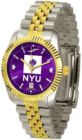 Mens New York University Violets - Executive AnoChrome Watch