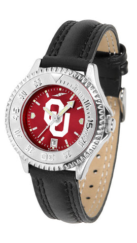Oklahoma Sooners Ladies Competitor Watch With AnoChome Dial