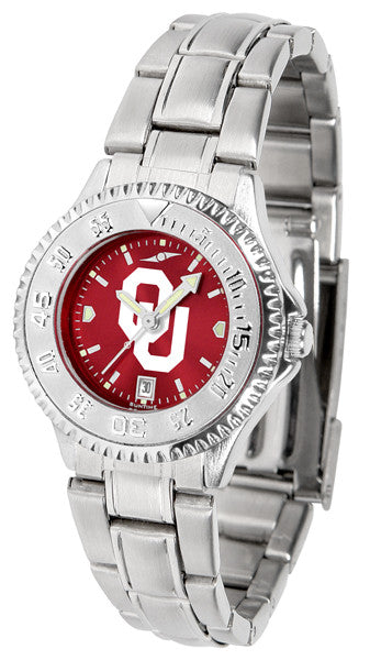 Oklahoma Sooners Ladies Competitor Steel Watch With AnoChome Dial
