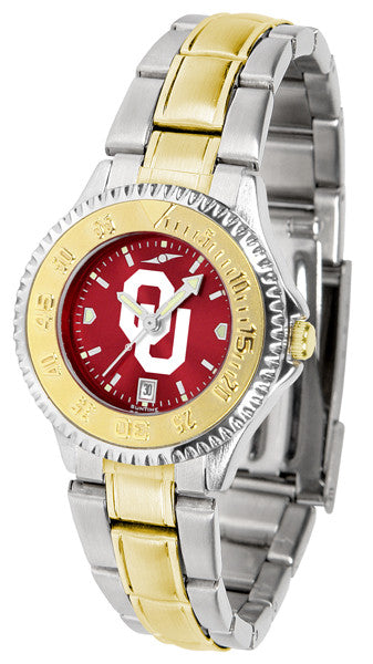 Oklahoma Sooners Ladies Competitor Two-Tone Watch With AnoChrome Dial