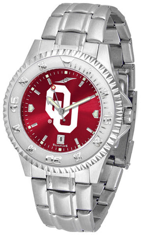 Oklahoma Sooners Men Competitor Steel Watch With AnoChome Dial