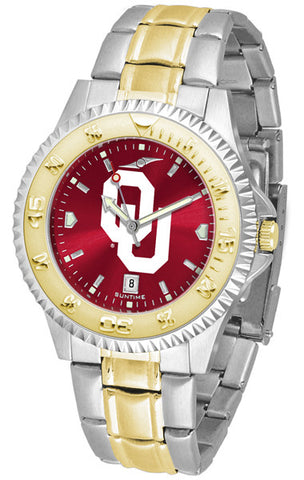 Oklahoma Sooners Mens Competitor Two-Tone Watch With AnoChrome Dial