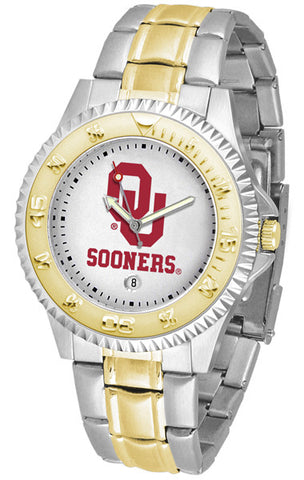 Oklahoma Sooners Mens Competitor Two-Tone Watch