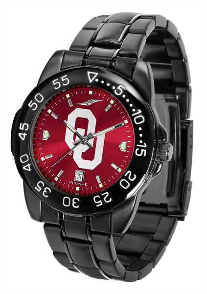 Oklahoma Sooners Fantom Sport Men Watch With Red AnoChrome Dial