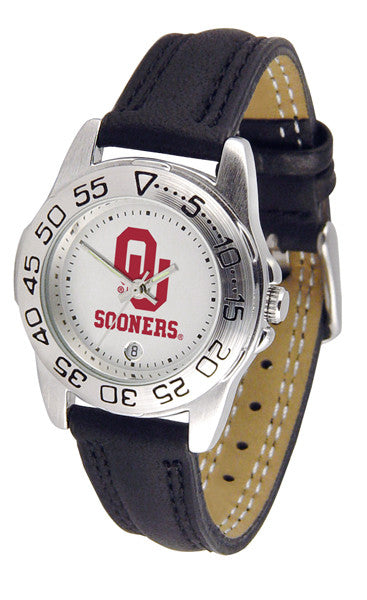 Oklahoma Sooners Ladies Sport Watch With Leather Band